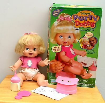 1998 Potty Dotty Interactive Talking Doll By Playmates In Original Box
