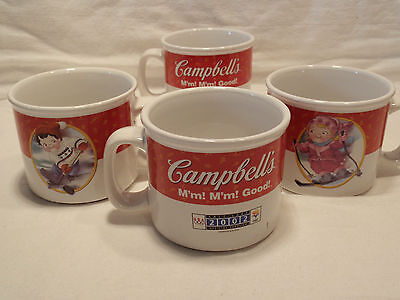 Campbell's Soup Olympic Mugs Limited Edition 2002 ALL 4- Hockey, Bobsled