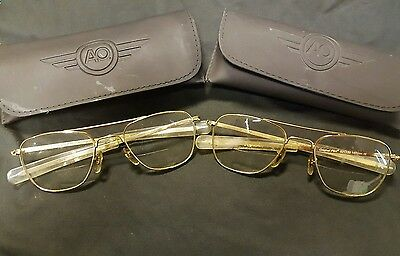2 american optical aviator frames with case not 12k gf