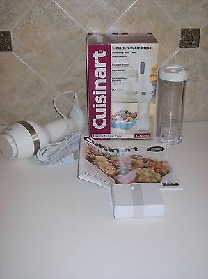 New Cuisinart ECG-20BJ Electric Cookie Press  12 Discs  8 Decorating Tips Manual