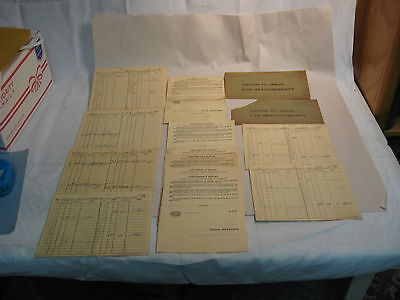 Vintage 1966 New York Central Railroad Crossing Report Cards