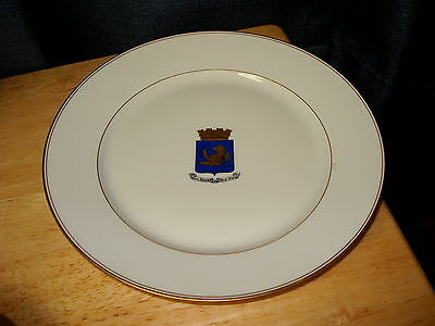 Saint Gervais Les Bains France Coat of Arms Plate Gold Trim