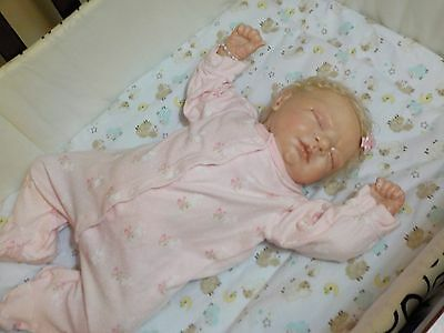 Sweet Baby Girl Reborn Doll Precious Gift Cindy Musgrove In time 4 Christmas!