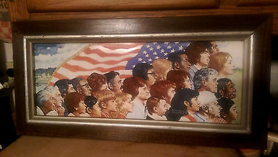 Norman Rockwell America Framed Porcelain Plaque Limited Edition W/coa