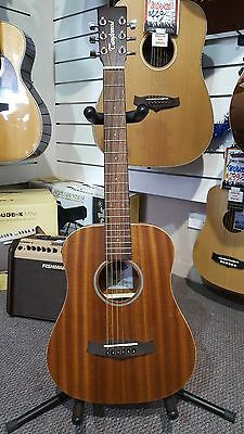 Tanglewood TW2TE Travel Acoustic Electric Guitar - Built in Tuner and Bag