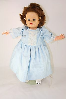 "ORIGINAL VINTAGE 18"" IDEAL BLUE SLEEP EYES BABY RUTH GIRL DOLL 1950s ANTIQUE"