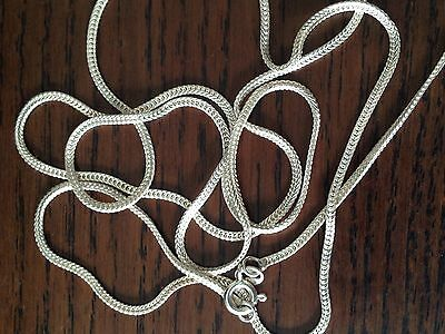 """A pc of Italian sterling silver Flat Snake chain necklace, new,no scrap,30"""""""