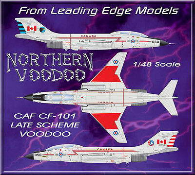 1/48 F-101 Voodoo Canada model decal set by Leading Edge Models