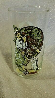 Norman Rockwell Coca Cola Drinking Glass Tumbler Boy and Dog EXCELLENT