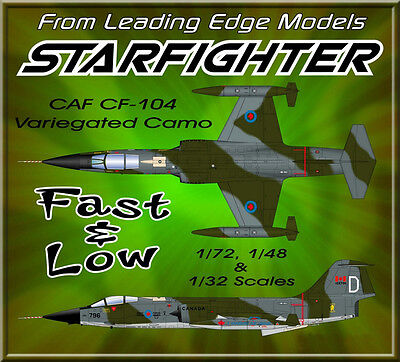 """1/48 F-104 Canada RCAF/CAF veriagated camo"""" model decal by Leading Edge Models"""