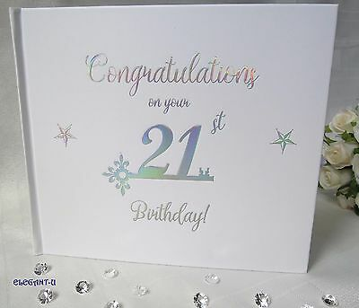 ~21st Birthday Signing Guest Book~ Gift~Present~Keepsake