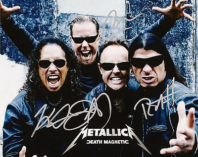 METALLICA BAND signed Autographed 8x11 DEATH MAGNETIC Promo Photo REPRINT RP