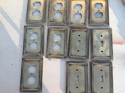 metal light switches and wall socket covers