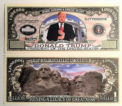 RARE: Donald Trump $1,000,000 Novelty Note, President,  Buy 5 Get one FREE