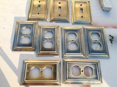 metal light switch and wall socket covers