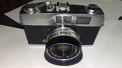Konica Auto S2 35Mm Rangefinder Film Camera With Hexanon 45Mm F/1.8 Lens
