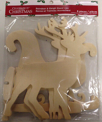Reindeer And Sleigh Stand Ups- To Build And Paint