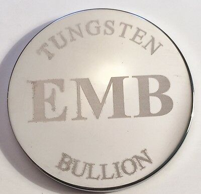 "25 Gram EMB  TUNGSTEN ""Original"" Bullion Round In Capsule, Rare Metals"