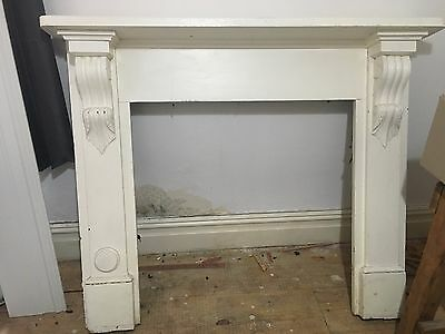 Victorian antique fireplace wooden surround and insert-pickup-cash only