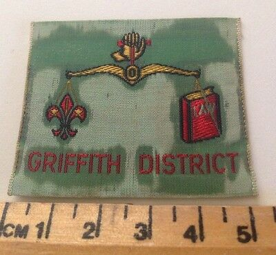 Vintage Griffith District Scout Badge