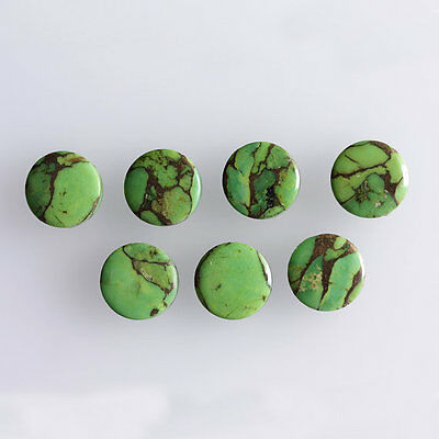 22MM Round Shape, Green Copper Turquoise Calibrated Cabochons AG-228