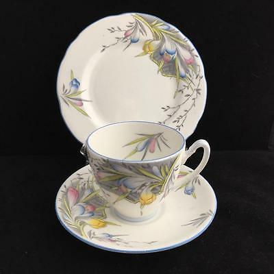 Foley Trio With Freesia Pattern Bone China Vintage