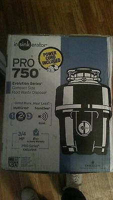 Nib Insinkerator Pro 750 3/4 Hp Food Waste Garbage Disposal W/power Cord