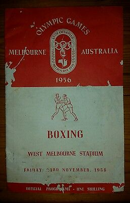 Olympic Games 1956 MELBOURNE Boxing Programme