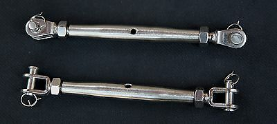 "Stainless Steel Turnbuckle Closed Body 3/16"" Rigging Marine Grade M5"