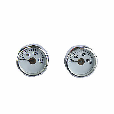 New 2x1500 PSI Paintball Micro Gauge CO2 use Industry standard