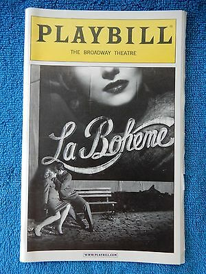 La Boheme - Broadway Theatre Playbill w/Ticket - January 28th, 2003 - Hopkins