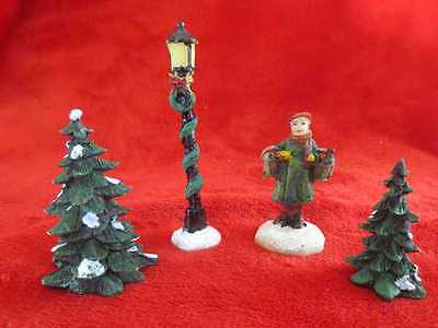 Saturday Evening Post 4 Pc Polyresin Accessory Set Norman Rockell Man w/2 Geese