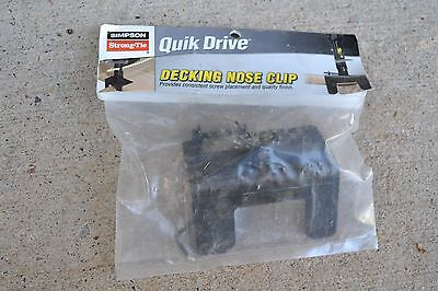 Simpson QuikDrive Quik Drive QDDECKCLIP Decking Nose Clip - NEW! FREE SHIPPING!
