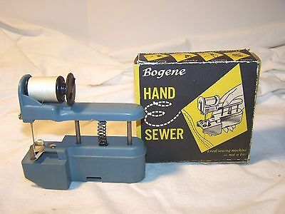 'NOT A TOY' SEWING MACHINE HAND SEWER Sews,Buttons.Zig-Zags,Bastes In Box