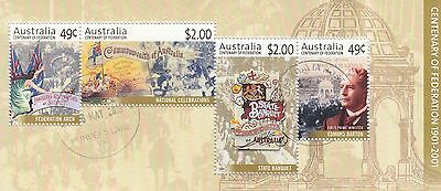 2001 Mini Sheet Centenary of Federation VFU / CTO HIGHER VALUES