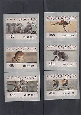 Australia CPS Counter Printed Stamps MUH Set of 6 Bth St Hobart Bathurst St Tas