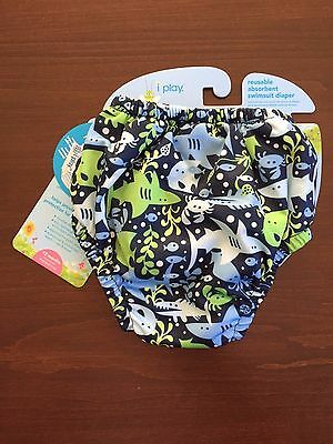 iPlay Reusable Absorbent Swimsuit  Swim Diaper L Large 12 months 18-22lbs  NEW!