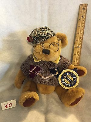 Vintage 1996-97 Brass Button Collectibles Jointed Sherwood Bear With Tag