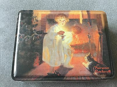 2004 Norman Rockwell Is He Coming Collector's Series Tin Cookie Tin Lenell Cooky