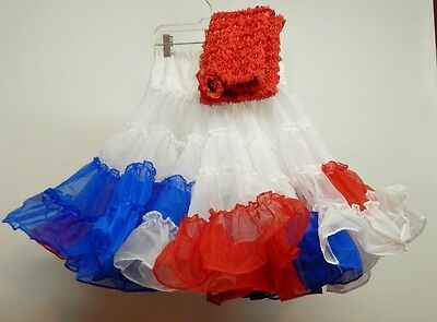 50 Yard Red, White And Blue Square Dance Petticoat And Pettipants