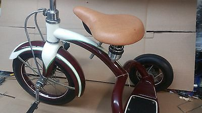 NOS VINTAGE COLSON 1950 s MODEL 460 X  MAROON AND CREAM TRICYCLE BIKE BICYCLE