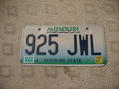 Missouri Show Me State Embossed Graphic License Plate 925 Jwl Jewel