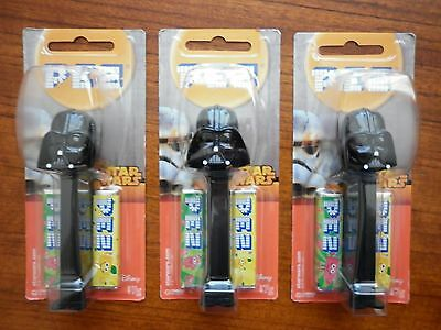 Star Wars Pez Lot Of 3  Darth Vadar New And Sealed