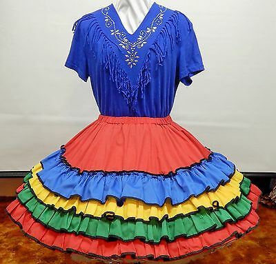 2 Piece Fiesta Country Square Dance Dress