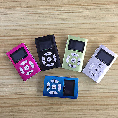 Reproductor Lector MP3 Player Clip USB LCD Screen Micro SD SDHC hasta 32GB