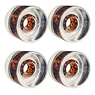 Globe Wheels G Icon Clear Tortoise Cores 65mm 78A for Cruiser Skateboards