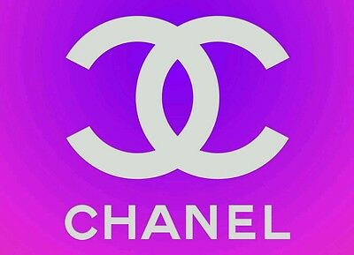 COCO CHANEL logo picture 2 - quality glossy A4 print