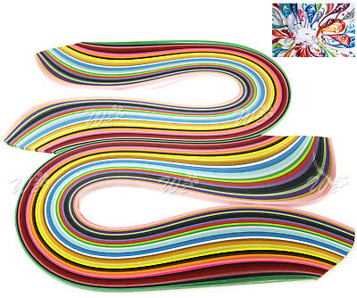 2 Sets of 360pcs 5mm Quilling Paper Strips 36 Colours Assorted DIY Craft 540mm