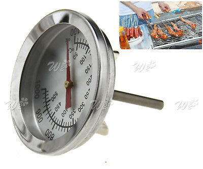 Cooking BBQ Probe Bimetal Oven Thermometer 50°C-500°C Stainless Steel