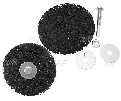 "2pcs 100mm Rust & Paint Removal Abrasive 4"" Stripping Disc 6mm M8 Shank"